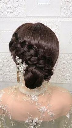 Bun Hairstyles For Long Hair, Braids For Long Hair, Bride Hairstyles, Cute Hairstyles, 1800s Hairstyles, Latin Hairstyles, Hair Up Styles, Medium Hair Styles, Long Hair Video