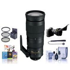 Nikon 200-500mm f/5.6E ED AF-S VR Zoom Lens USA Warranty W/Free Accessory Bundle