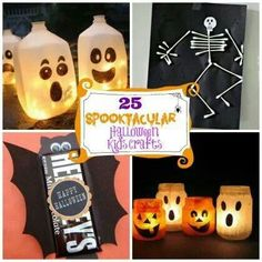halloween kids crafts, do the baby food jar jack o lanterns with mod podge maybe
