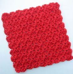 Easy Crochet Dishcloth MATERIALS: Hook: Size G Yarn: Sugar 'N' Cream 4-ply Worsted Weight Cotton Yarn (less than 2oz) Stitches used: ch, sl st, sc, dc. Difficulty: EASY ROW 1: Ch 40, (dc, ch ...