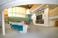 Case study on the Joseph Rowntree School, York rebuilt as a one off pathfinder school using funding from the building schools for the future BSF programme with furniture supplied by British Thornton. Dining Area, Joseph, School, Building, Furniture, Home Decor, Decoration Home, Room Decor, Buildings