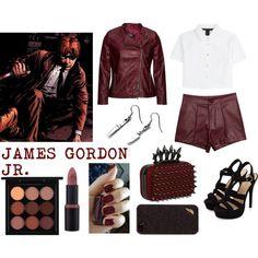 James Gordon Jr. by ladydeathstrikex on Polyvore featuring MARC BY MARC JACOBS, Diane Von Furstenberg, MAC Cosmetics, villain, comics, DC, jamesgordon and plus size clothing