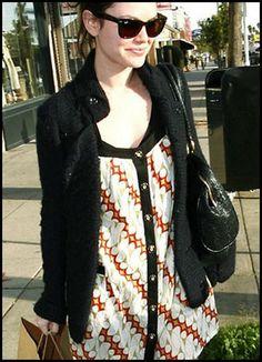 Rachel Bilson Beautiful Batik World Wear