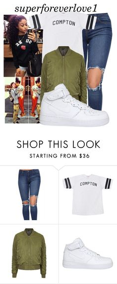 """BBHMM X Rihanna"" by superforeverlove1 ❤ liked on Polyvore featuring Topshop, NIKE, women's clothing, women's fashion, women, female, woman, misses and juniors"
