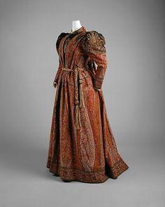 Vestido de chá 1891 O Museu Metropolitano de Arte