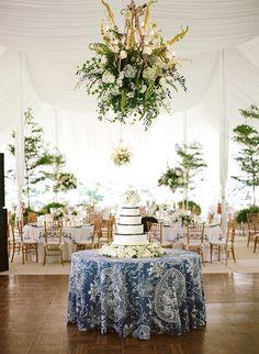 blue cake table   Melissa Schollaert
