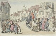 Dolphins Inn; Greenwich and Woolwich Coaches - (Thomas Rowlandson)