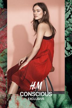 Ankle-length dress in pleated chiffon with a print pattern. | H&M Conscious Exclusive