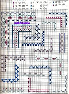 Anaide Cross Stitch: Gorgeous graphics point cross barred corner.                                                                                                                                                                                 More