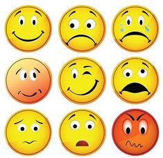 Verdrietig, verlegen, iets niet leuk?? geef het aan op het planbord door middel van deze leuke  ronde 'smiley'pictogrammen.