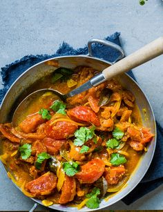Our fresh vegan tomato curry recipe is perfect for those nights when you fancy a curry in a hurry Curry Recipes, Veggie Recipes, Indian Food Recipes, Vegetarian Recipes, Healthy Recipes, Ethnic Recipes, Vegetarian Diets, Sainsburys Recipes, Curry In A Hurry