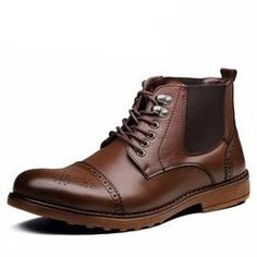 Ankle Lace-Up Boots For Men