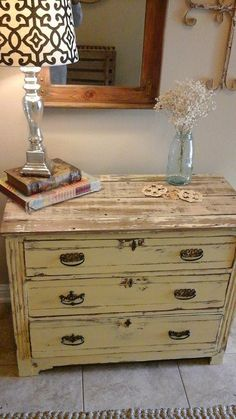 Painted Victorina Chest of drawers in Pure Earth Paint~ Saffron  www.barndancevintage.com facebook.com/barndancevintage