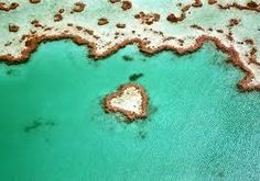 Great Barrier Reef heart shaped island, Queensland, Australia