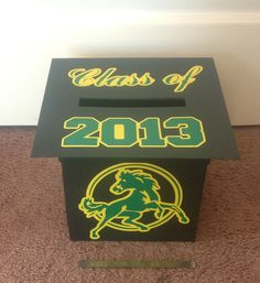 Graduation card box.