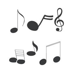 Music Notes Wall Decals ❤ liked on Polyvore