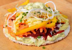 nz flavour - raw sandwich pizza