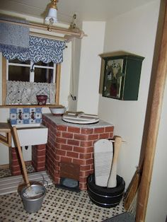 Elga's Miniatures: Victorian House: The Scullery