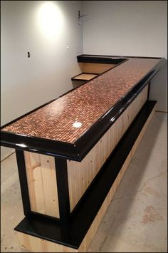 Bar top made from pallet boards and covered with epoxy | Artistic ...