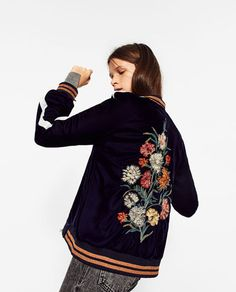 FLORAL EMBROIDERED BOMBER JACKET-BOMBERS-WOMAN | ZARA United States
