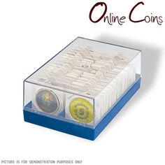Dime BCW Paper Flips Coin Flip Holder Storage 2x2 200