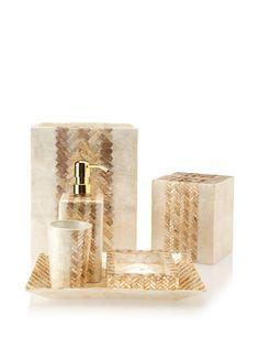 56% OFF Pearl Dragon Herringbone Braid Bathroom Set (Taupe/Ivory)