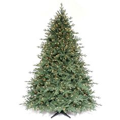 Martha Stewart Living™ 7.5 ft. Pre-Lit Royal Sarah Spruce Artificial Christmas Tree with SureBright Clear Lights available at The Home Depot