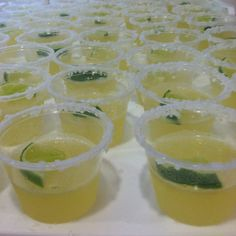 Cinch de Mayo Mini-Margarita Jello Shots
