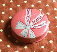 Vintage Compact Rouge Heather Rouge Oramber by RosePetalResources, $18.00