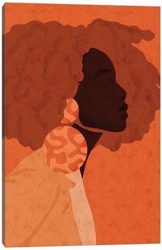 Black Art Painting, Black Artwork, Afro Painting, Black Love Art, Black Girl Art, Arte Black, Magazin Design, African Art, African American Artist