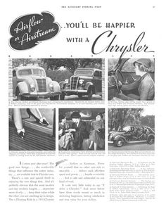 Old car and truck advertisement brochures, The Chrysler Airflow