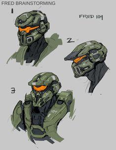 Fred- 104 early concept for Halo Kory Lynn Hubbell Realistic Games, Character Art, Character Design, Halo 5, Concept Art World, Fire Emblem Awakening, Fullmetal Alchemist Brotherhood, Fantasy Armor, Sailor Jupiter