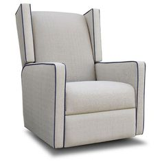 Wing Glider Recliner in Choice of Fabric from PoshTots