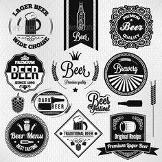 Vintage Beer Label Set