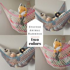 Hey, I found this really awesome Etsy listing at https://www.etsy.com/listing/237797306/two-color-stuffed-animal-hammock-toy