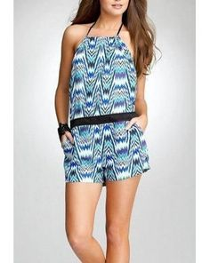 Bebe Halter Printed Romper : Rs. 6,950/- http://www.findable.in/bebe?=60 | Findable.in