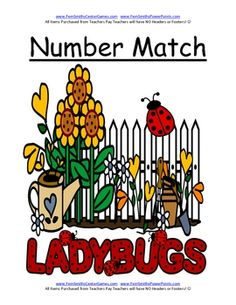 FREEBIE! Fern Smith's Adorable LADYBUGS THEME! Printable center game including a variety of game directions!