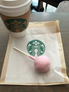 Starbucks Mustache Cake Pop