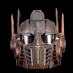 Steampunk Optimus Prime Helmet Transformers  Life Size Cosplay  Battle damaged Copper. $175.00, via Etsy.