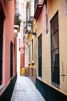 the prettiest little streets in Seville, Spain