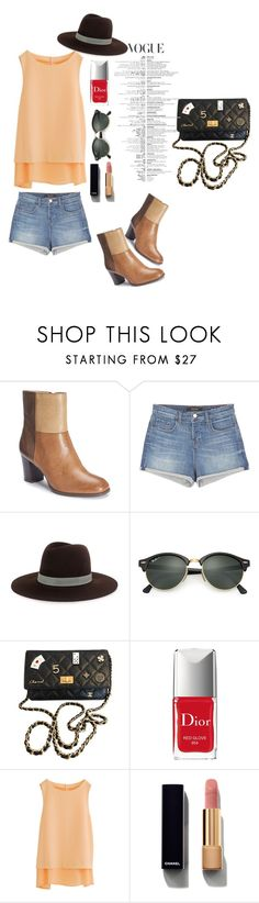 """""""Style"""" by roses-014 ❤ liked on Polyvore featuring New York Transit, J Brand, Janessa Leone, Ray-Ban, Chanel and Christian Dior"""