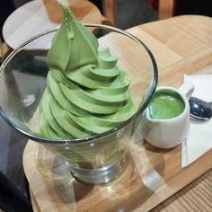 green tea affogato - Google Search