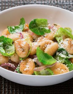 Crispy brown butter gnocchi with a squeeze of lemon - a recipe as comforting as it is gourmet.