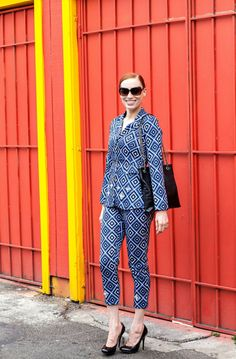 MCLV Style: Suiting | Moi Contre La VieMoi Contre La Vie - Printed suit