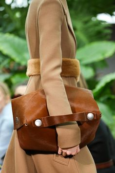Leather bag.