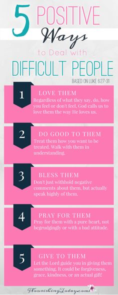 how to deal with difficult people | pray | love | do unto others | bless them | godly reponses