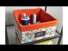 ▶ DIY Fabric Storage Bin Tutorial - YouTube