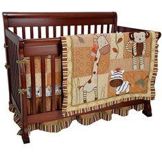 Safari themed crib bedding