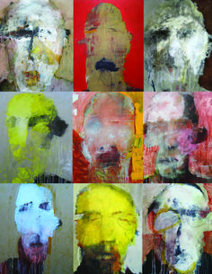 Photo Montage No. 141 Catherine Woskow's Faceless Men. Abstract Faces, Abstract Portrait, Oil Painting Abstract, Portrait Art, Figure Painting, Male Portraits, Human Art, Realistic Drawings, Art For Art Sake