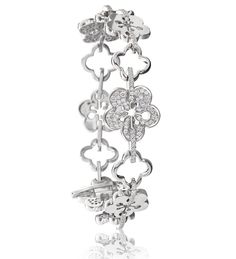 Blossom Diamond Bracelet. A playful, feminine bracelet from Boodles' iconic Blossom collection, set with 226 round-brilliant cut diamonds in 18ct white gold.